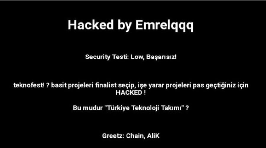 Photo of Teknofest etkinliğinin resmi web sitesi hacklendi!